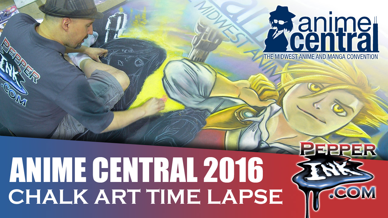Anime Central 2016 Chalk Art Time Lapse