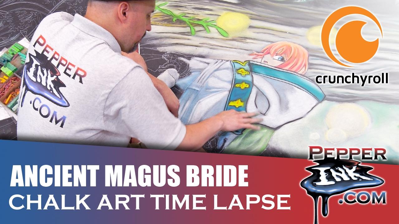 Anime Expo Ancient Magus Bride Crunchyroll Chalk Art