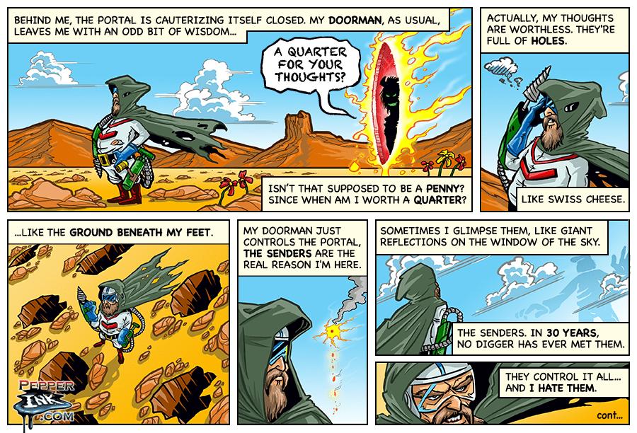 Dig Dug Web Comic Part 1