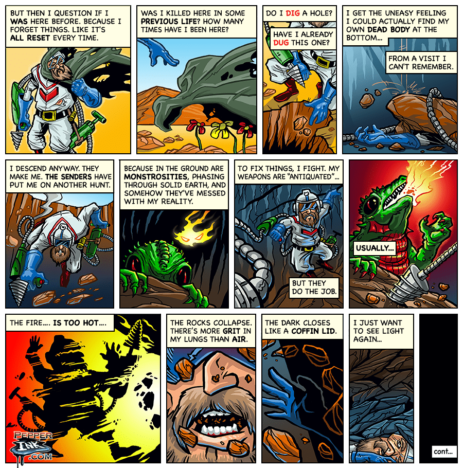 Dig Dug Web Comic Part 2