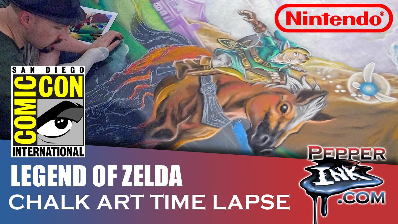 Legend of Zelda Ocarina of Time Chalk Art Time Lapse