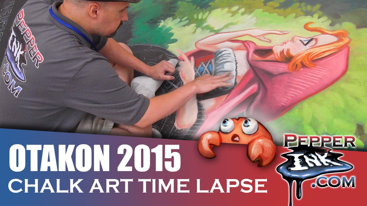 Otakon 2015 Chalk Art Time Lapse