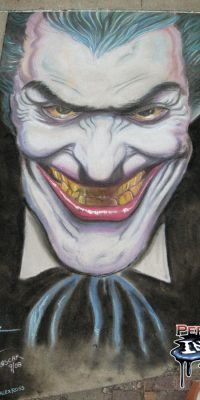 Chalk Art Joker from DC Comics by Alex Ross