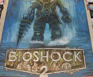 Chalk Art Bioshock 2 for 2K Games at Penny Arcade Expo