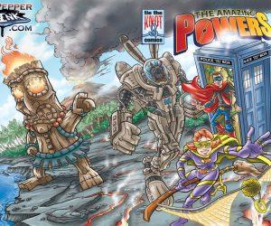 Superhero Dr Who Island Mashup Comic