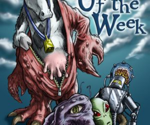 creature of the week mascot illustration