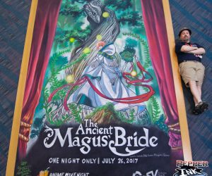 Chalk Art The Ancient Magus Bride for Crunchyroll at Anime Expo