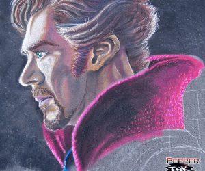 Chalk Art Bennedict Cumberbatch Dr. Strange portrait