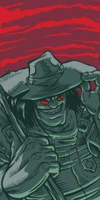 evil farmer creature illustration