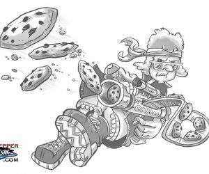 grandma cookie gun cartoon