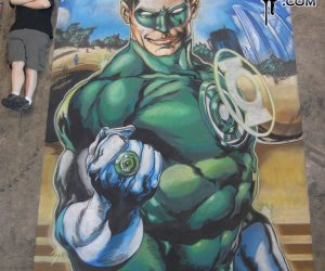 Chalk Art Ivan Reis Green Lantern at C2E2 in Chicago