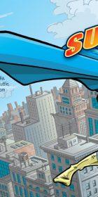 Jared Campbell Superhero Album Cover Cartoon