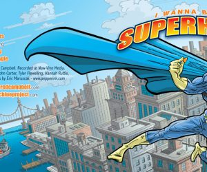 Jared Campbell Superhero Album Cover Cartoon