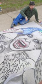 Chalk Art Jared Leto Joker from Suicide Squad