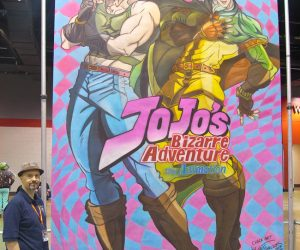 Chalk Art Jo Jo's Bizarre Adventure for Viz Media at Anime Central