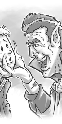 vampire leader and jimmy cartoon