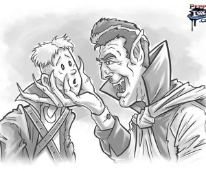 vampire leader and jimmy cartoon