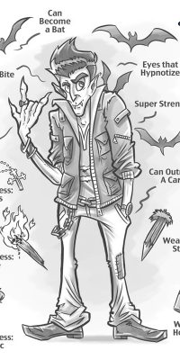 vampire characteristics cartoon