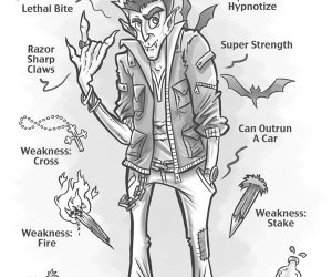 vampire characteristics cartoon