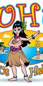 Hawaiian Comic Illustration
