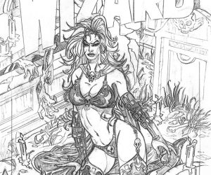 Lady Death Sketch Wizard Cover