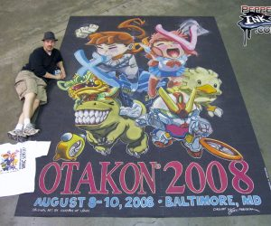 Chalk Art cute anime characters at Otakon 2008