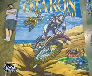 Chalk Art Anime Motocross at Otakon 2011