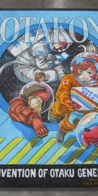 Chalk Art anime in space at Otakon 2014
