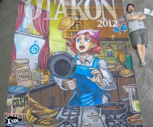 Chalk Art Kitchen Cook for Otakon 2012