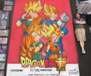 Chalk Art Dragon ball Super at the Play Fair in NYC