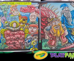 Chalk Art for Crayola - Original Art by Eric Maruscak
