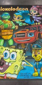 Chalk Art Spongebob, TMNT and more for Nickelodeon at Play Fair