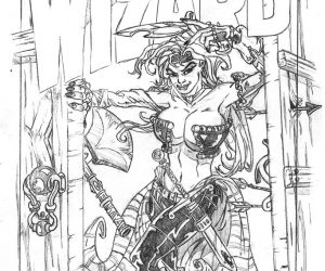 Red Monica Sketch Wizard Cover