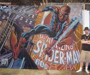 Chalk art of Joe Quesada Spider-Man 600 Marvel Comics Cover