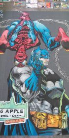 Chalk art of Joe Quesada Spider-Man and Jim Lee Batman made at the Big Apple Con