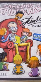 Finished Chalk Art of Skottie Young Stan Lee Amazing Spider-Man cover