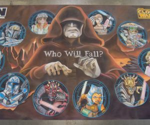 Chalk Art Clone Wars Season 5 for Lucasfilm at Star Wars Celebration