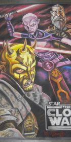 Chalk Art Clone War Villains with Savage Oppress for Lucasfilm