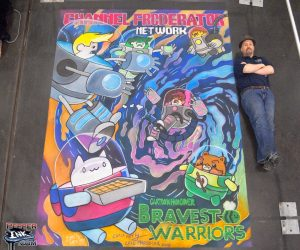 Chalk Art of The Bravest Warriors for Channel Frederator