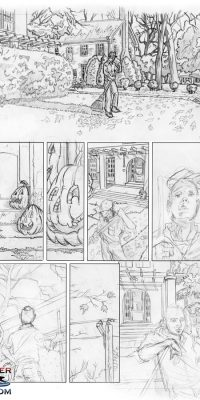 Sumi and Kei Comic Page Sketch 6