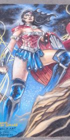 Chalk art of Jim Lee Wonderwoman