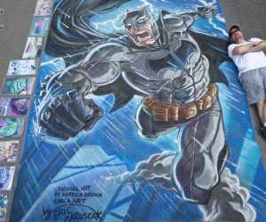 Batman Street Painting Chalk Art