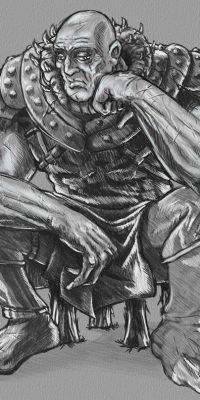 old warrior digital sketch