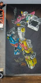 Chalk Art Voltron at the New York Anime Festival