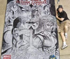 Chalk Art of Xmen by Marc Silvestri at Wizard World Dallas