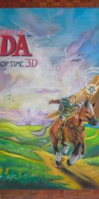 Chalk Art The Legend of Zelda Ocarina of Time for Nintendo at the San Diego Comic Con